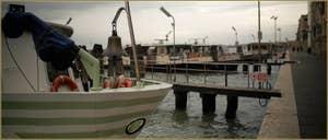 Bateaux sur les Fondamente Nove, dans le Sestier du Cannaregio à Venise.