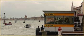 Embarcadère du Vaporetto sur les Fondamente Nove, dans le Sestier du Cannaregio à Venise.