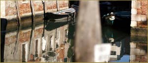 Le rio di San Boldo, frontière à cet endroit, entre les Sestieri de San Polo et de Santa Croce à Venise.