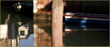 Le rio di San Boldo, frontière entre les Sestieri de San Polo et de Santa Croce à Venise.