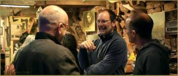 Anniversaire des 25 ans d'activité de Paolo Brandolisio, Remer scultpeur de Forcole à Venise.