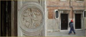 Détail de l'église Santa Maria dei Miracoli, dans le Sestier du Cannaregio à Venise.