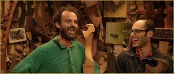 Paolo Brandolisio et Piero Dri, Remer Sculpteurs de Forcole dans le Castello à Venise.