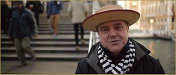 Le sympathique Gondolier Vittorio Postin