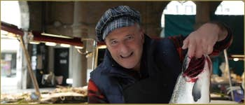Massimo Zane, marchand de poisson au Marché du Rialto.