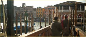 Le Traghetto de Santa Sofia, sur le Grand Canal, dans le Sestier du Cannaregio à Venise.