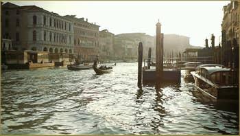 Le Grand Canal à Venise.