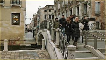 Le pont Novo San Felice, dans le Sestier du Cannaregio à Venise.