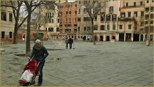 Le Campo de Gheto Novo, dans le Sestier du Cannaregio à Venise.