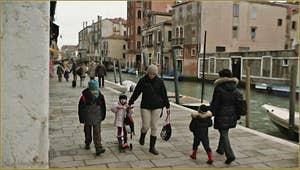 La Fondamenta degli Ormesini, dans le Sestier du Cannaregio à Venise.