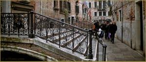 Le pont de le Erbe, dans le Sestier du Cannaregio à Venise.