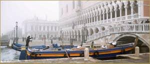 Le Palais des Doges et le pont de la Paglia, dans le Sestier de Saint-Marc à Venise.