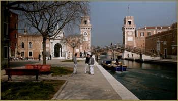 Le Campo et l'Arsenal de Venise, dans le Sestier du Castello