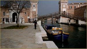 Le Campo et l'Arsenal de Venise, dans le Sestier du Castello à Venise.
