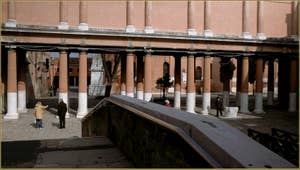 Le Campiello de la Chiesa, au fond, l'église San Francesco de la Vigna, dans le Sestier du Castello à Venise.