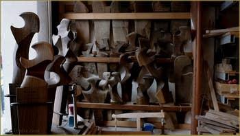 L'atelier du Remer sculpteur de Forcole, Saverio Pastor, Fondamenta Soranzo de la Fornace, dans le Sestier du Dorsoduro à Venise.