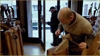 Pietro, dans l'atelier du Remer sculpteur de Forcole, Saverio Pastor, Fondamenta Soranzo de la Fornace, dans le Sestier du Dorsoduro à Venise.