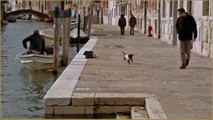 La Fondamenta Gasparo Contarini, le long du rio de la Madona de l'Orto, dans le Sestier du Cannaregio à Venise.