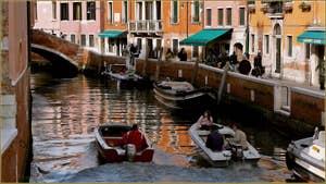 Le rio et la Fondamenta de San Basegio, dans le Sestier du Dorsoduro à Venise.