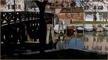 Le pont Novo de Santa Marta, sur le rio dell'Arzere, dans le Sestier du Dorsoduro à Venise.