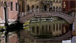 Le pont Rosso, le long de la Fondamenta dei Cereri, dans le Sestier du Dorsoduro à Venise.