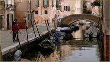 La Fondamenta Moro et le pont Zancani, dans le Sestier du Cannaregio à Venise