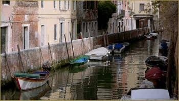 Le rio et la Fondamenta del Trapolin, dans le Sestier du Cannaregio à Venise.