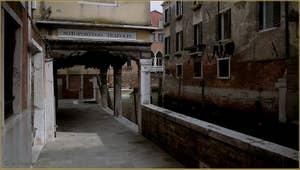 Le Sotoportego Trapolin, dans le Sestier du Cannaregio à Venise.