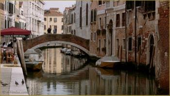 Le rio de la Misericordia et le pont San Marziale, dans le Sestier du Cannaregio à Venise.