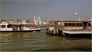 L'arrêt Palanca des Vaporetti, sur l'île de la Giudecca à Venise.