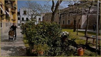 Le Campo San Cosmo, sur l'île de la Giudecca à Venise.