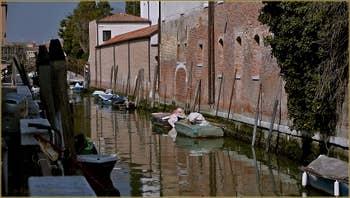 Le rio de Santa Eufemia, sur l'île de la Giudecca à Venise.