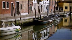La Fondamenta Lorenzo Radi, le long du Canal di San Matteo, sur l'île de Murano à Venise.