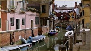 Le rio de San Daniele et le pont Rielo, dans le Sestier du Castello à Venise.