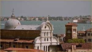L'église et le Campanile de San Zaccaria, dans le Sestier du Castello à Venise.