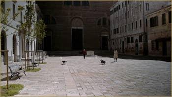 Le Campo San Lorenzo, dans le Sestier du Castello à Venise.