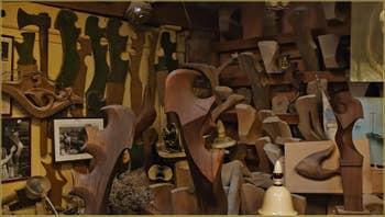 L'atelier du Remer Sculpteur de Forcole, Paolo Brandolisio, 4725, Calle Corte Rota, dans le Sestier du Castello à Venise.