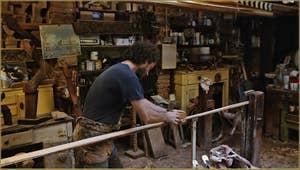 Paolo Brandolisio dans son atelier, dans le Sestier du Castello à Venise.