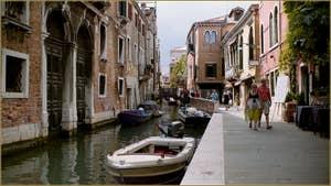 Le rio de la Frescada - San Rocco, le long de la Fondamenta del Forner, dans le Sestier de San Polo à Venise.