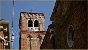 Détail du Campanile de San Giobbe, dans le Sestier du Cannaregio à Venise.