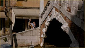 Détail du pont de le Guglie, dans le Sestier du Cannaregio à Venise.