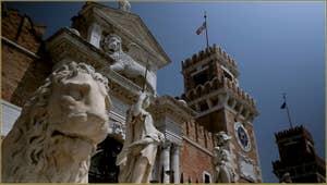 Les lions de l'Arsenal de Venise, dans le Sestier du Castello à Venise.