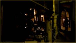 Venise la nuit : Le Sotoportego del Magazen, sur le rio de Ca' Widmann, dans le Sestier du Cannaregio à Venise.