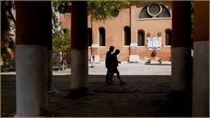Le Campo de la Confraternita, avec au fond, l'église San Francesco de la Vigna, dans le Sestier du Castello à Venise.