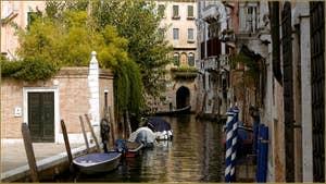 Le rio San Stin le long de la Fondamenta Contarini, dans le Sestier de San Polo à Venise.