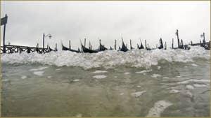 Acqua Alta, Molo San Marco, dans le Sestier de Saint-Marc à Venise.