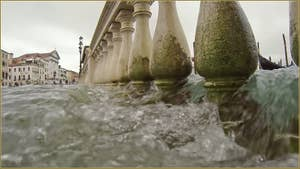Acqua Alta, Riva degli Schiavoni, dans le Sestier du Castello à Venise.