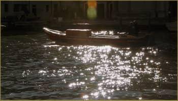 Reflets sur le Grand Canal de Venise.