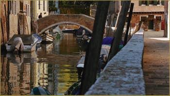 Le rio et la Fondamenta del Trapolin, dans le Sestier du Cannaregio à Venise