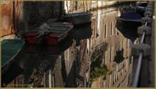 Les reflets du rio de la Panada, dans le Sestier du Cannaregio à Venise